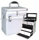 cosmeitc case, makeup case, storage case multifunctional in silver