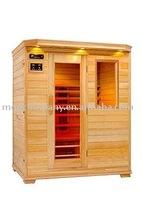 3 person indoor body enjoying far infrared Sauna house
