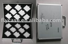 2012 new design aluminium stone box ,quartz stone sample dispaly case with logo print and safe locks