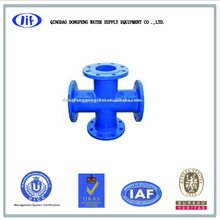 All Flanged cross/ductile iron pipe fitting