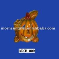 Distinctive ceramic porcelain halloween pumpkin