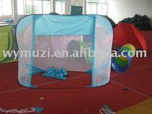 football door pattern mesh kids play pop up tent