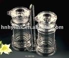 acrylic shaker set for oil and salt