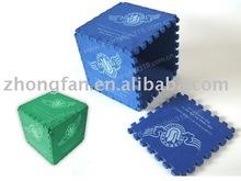 EVA cube box,EVA cube puzzle,EVA box with printing