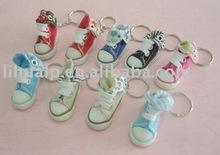 Mini basketball shoe keychain