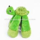 plush long legs tortoise dog toy with sound