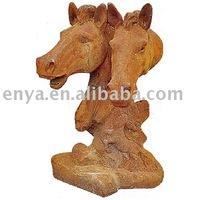 Cast Iron Horse Sculpture, Horse Head Statue, Decorative Animal