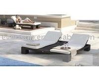 Swimming Pool Rattan Sun Chaise Lounger