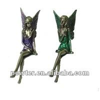 Pewter Sitting Fairy Figurines