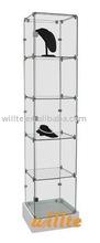 2013 new modern glass display cabinet