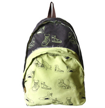 YB10118 Printed Design Canvas Backpack For College Girls