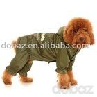army green , black ,pet apparel, dog raincoat
