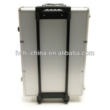 1000 PC Aluminum Poker Chip Case With Or Without Trolley
