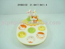 easter ceramic egg holder chicken