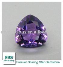 trillion cut Africa Amethyst Quartz Crystal loose Amehyst stone(FSSAATR0707)