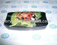 rectangular metal tin case, pencil tin box, tin box with hinge