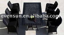 plastic Rattan dining chair