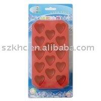 Red color heart shape led ice cube (KHAA002)