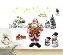 X-mas Santa Claus decorative sticker wall sticker suit