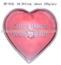 heart shaped reusable heat pack, gel filled warmer