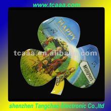 shamrock flashing lapel pin for children