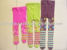 colorful knitted cotton children baby's tights pantyhose