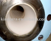 Alumina ceramic lined pipe for the steel industry and manufacturer