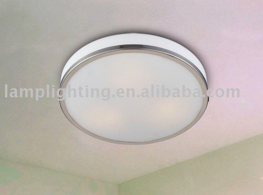 Simple lampe de plafond pour salle de bains et balcon ip20 for Lampe plafond salle de bain