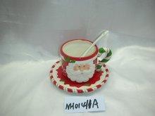 ceramic Santa cup AND saucer