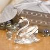 clear wedding crystal swan , crystal wedding decoration swan bomboniere