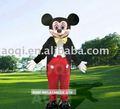 mickey mouse traje de piel
