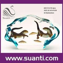 Crystal resin ocean penguin,sea otter