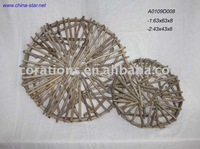 round driftwood wall hanging decoration for garden
