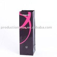 Mini wine bottle Fancy printed paper shopping bag