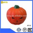 Decoration PU foam Halloween pumpkin shape stress toy