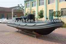China 1.2mm PVC &rigid hull black inflatable boat rib 520 (CE)