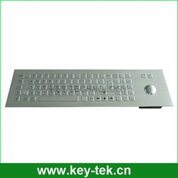 metal keyboard with stainless steel trackball