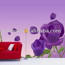 PP51-028S Purple Rose Design Large Wall Mural