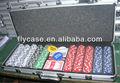 2013 nuevo diseño 500 sostiene de chip de póquer caso con la tarjeta de juego y los dados y distribuidor,impresión de lainsignia, papasfritas tarjeta de conjunto