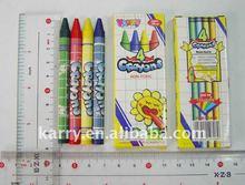 4 color wax crayon set