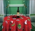 100% polyester Christmas design printed table cloth or cover