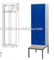 2 door locker with bench