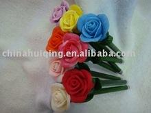 Rose shaped handmade beautiful polymer clay cheap pen