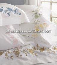 100% linen embroidery pillowcase