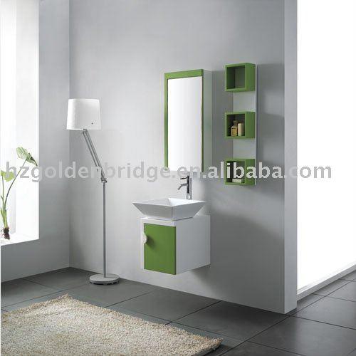 Verde PVC pequeno armário de banheiro com pia de GBP932Penteadeiras para ba -> Armario Banheiro Verde