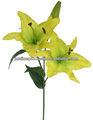 86cmH lírio artificial, Pu Lily pulverizador, De alta qualidade flores amarelas lírio Artificial