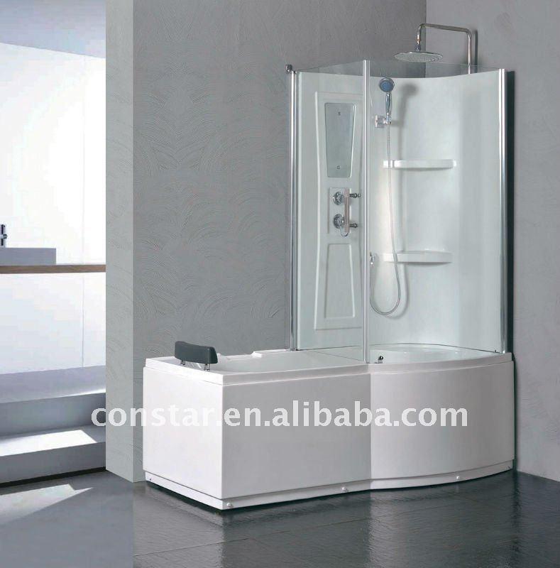 Cabine de douche combin baignoire 9045 salle de for Cabine de douche baignoire