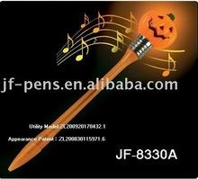 2012 year 's Halloween pumpkin shape flashing pen