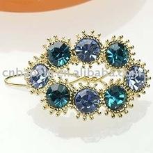 Girls cheap clear big crystal hair clip