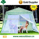 3x3m polyester gazebo with mesh curtains